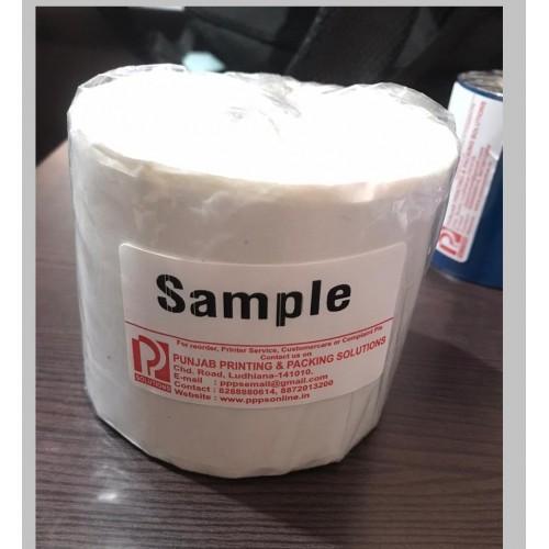 BARCODE LABEL SIZE 100 MM X 100 MM WHITE PLAIN SUPER HARD GUM